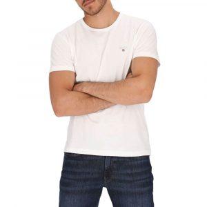חולצת T גאנט לגברים GANT The Original - לבן