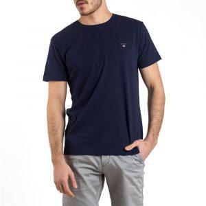 חולצת T גאנט לגברים GANT The Original - כחול