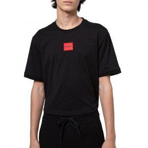 חולצת T הוגו לגברים HOGO Diragolino - שחור