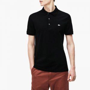 חולצת פולו לקוסט לגברים LACOSTE Lacivert Polo Slim Fit - שחור