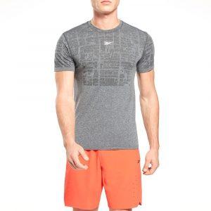 חולצת T ריבוק לגברים Reebok Fitness MyoKnit Seamless - אפור
