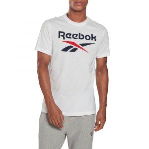 חולצת T ריבוק לגברים Reebok Graphic Series  Stacked Tee - לבן