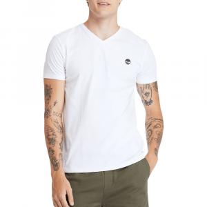 חולצת T טימברלנד לגברים Timberland Dunstan River V-Neck Tee - לבן