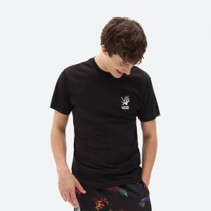 חולצת T ואנס לגברים Vans Reality Coral - שחור