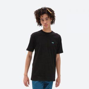 חולצת T ואנס לגברים Vans left Chest Logo - שחור