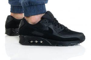 נעלי סניקרס נייק לגברים Nike Air Max 90 Essential - שחור פחם