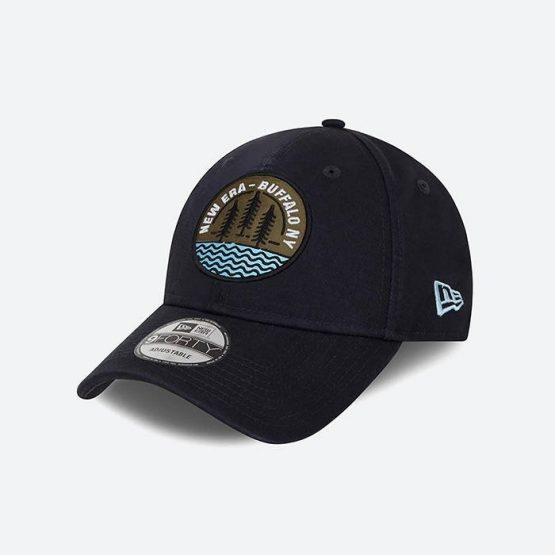 כובע ניו ארה לגברים New Era Cap Camp Patch - כחול כהה