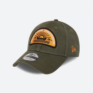כובע ניו ארה לגברים New Era Cap Camp Patch - ירוק