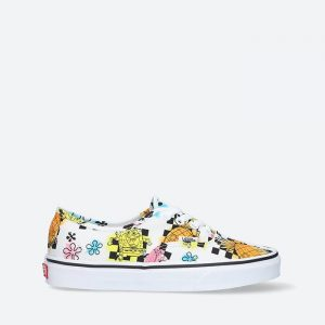 נעלי סניקרס ואנס לגברים Vans x Spongebob Authentic - לבן