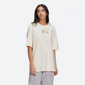 חולצת T אדידס לנשים Adidas Originals Adicolor Essentials Tee - לבן