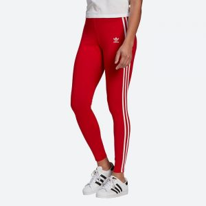 טייץ אדידס לנשים Adidas Originals Classics 3-Stripes Tights - אדום