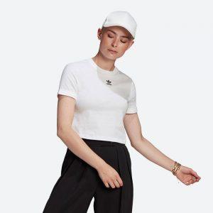 חולצת T אדידס לנשים Adidas Originals Classics Crop Top - לבן