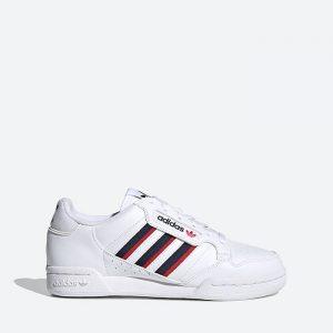 נעלי סניקרס אדידס לנשים Adidas Originals Continental 80 Stripes J - לבן
