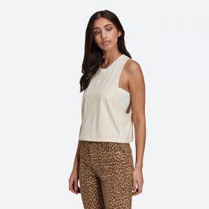 גופיה אדידס לנשים Adidas Originals Crop Tank Top - לבן