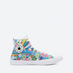 נעלי סניקרס קונברס לנשים Converse Pride Chuck Taylor All Star High Top - צבעוני/לבן