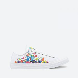 נעלי סניקרס קונברס לנשים Converse Pride Chuck Taylor All Star Low Top - לבן