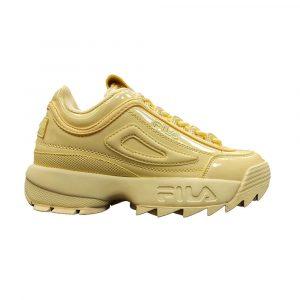 נעלי סניקרס פילה לנשים Fila Disruptor II Premium Patent - צהוב