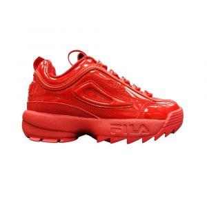 נעלי סניקרס פילה לנשים Fila Disruptor II Premium Patent - אדום