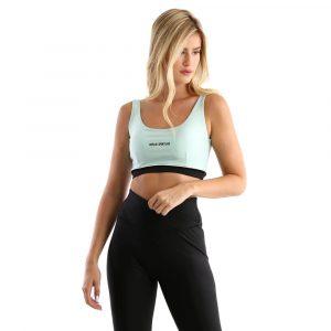 טופ וחולצת קרופ ריפליי לנשים REPLAY Sports Bra - מנטה