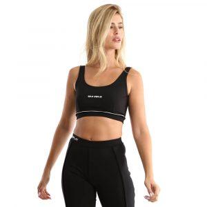 טופ וחולצת קרופ ריפליי לנשים REPLAY Sports Bra - שחור