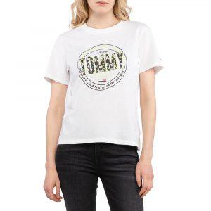 חולצת T טומי הילפיגר לנשים Tommy Hilfiger Floral Print - לבן