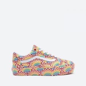 נעלי סניקרס ואנס לנשים Vans UA Old Skool Platfor Pride - צבעוני