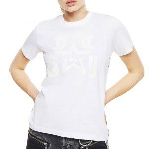 חולצת T דיזל לנשים DIESEL TONAL PRINT - לבן