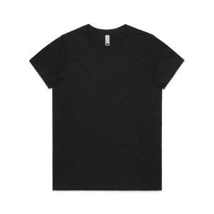 חולצת T אס קולור לנשים As Colour MAPLE ORGANIC - שחור