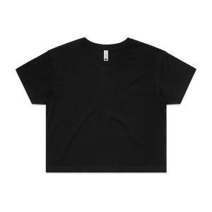 חולצת T אס קולור לנשים As Colour CROP - שחור