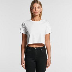 חולצת T אס קולור לנשים As Colour CROP - לבן