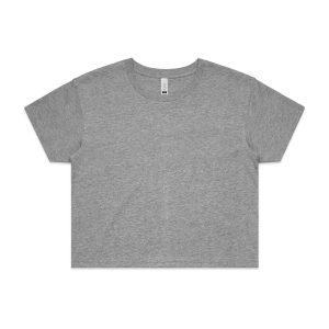 חולצת T אס קולור לנשים As Colour CROP - אפור