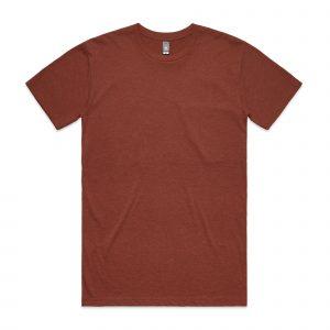 חולצת T אס קולור לגברים As Colour STAPLE HEATHER - חום בוץ
