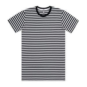 חולצת T אס קולור לגברים As Colour STAPLE STRIPE - שחור/לבן