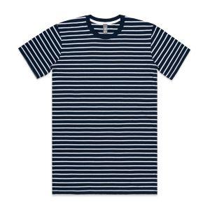 חולצת T אס קולור לגברים As Colour STAPLE STRIPE - כחול/לבן