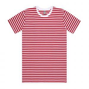 חולצת T אס קולור לגברים As Colour STAPLE STRIPE - לבן/אדום