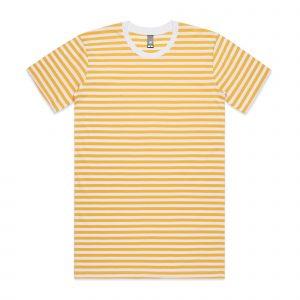 חולצת T אס קולור לגברים As Colour STAPLE STRIPE - לבן/צהוב