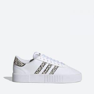 נעלי סניקרס אדידס לנשים Adidas Court Bold - לבן הדפס
