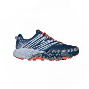 נעלי ריצה הוקה לנשים Hoka One One Speedgoat 4 - אפור/כחול