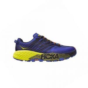 נעלי ריצה הוקה לגברים Hoka One One Speedgoat 4 - כחול/צהוב