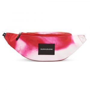 תיק קלווין קליין לנשים Calvin Klein WAISTBAG MARBLE - לבן/ורוד