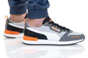 נעלי סניקרס פומה לגברים PUMA R78 - אפור/כתום