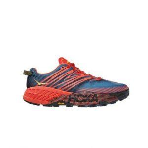 נעלי ריצה הוקה לגברים Hoka One One Speedgoat 4 - כחול/כתום