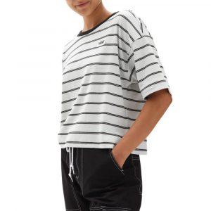 חולצת T ואנס לנשים Vans RAZZ BOXY TOP - לבן