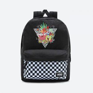 תיק ואנס לגברים Vans x SpongeBob Backpack - שחור