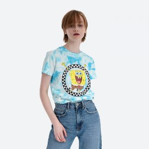 חולצת T ואנס לנשים Vans x Spongebob T - צבעוני
