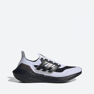 נעלי ריצה אדידס לגברים Adidas Ultraboost 21 - אפור/שחור