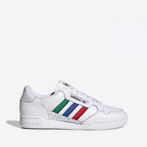 נעלי סניקרס אדידס לגברים Adidas Originals Continental 80 Stripes - צבעוני/לבן