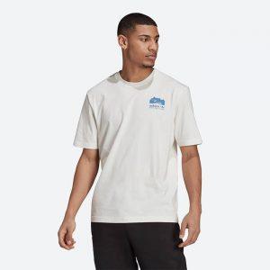 חולצת T אדידס לגברים Adidas Originals Flmount - לבן