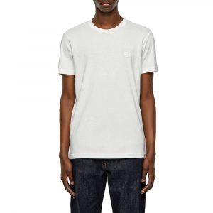 חולצת T דיזל לגברים DIESEL Emoji Logo - לבן