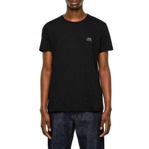 חולצת T דיזל לגברים DIESEL Emoji Logo - שחור